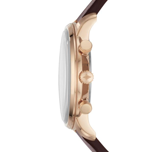 Fossil - Montre Goodwin chronographe en cuir brun - 2