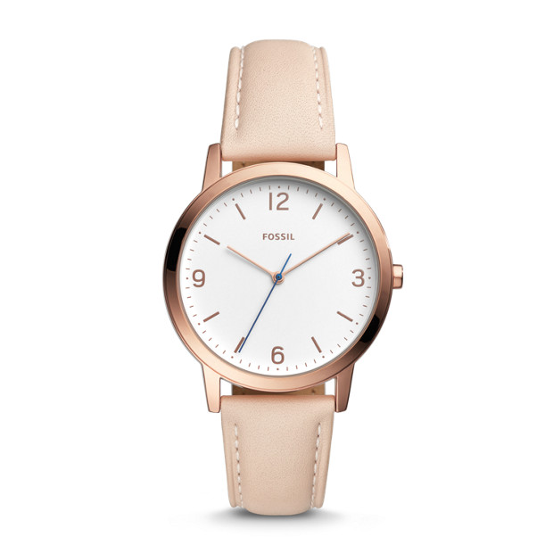Blake Three Hand Sand Leather Watch by Fossil