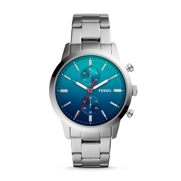 Townsman 44mm Chronograph Stainless Steel Watch Fossil