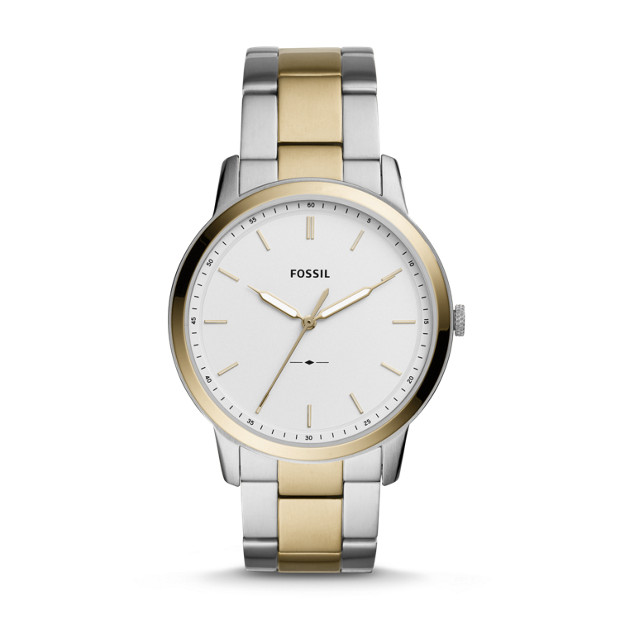 The Minimalist Three Hand Two Tone Stainless Steel Watch by Fossil