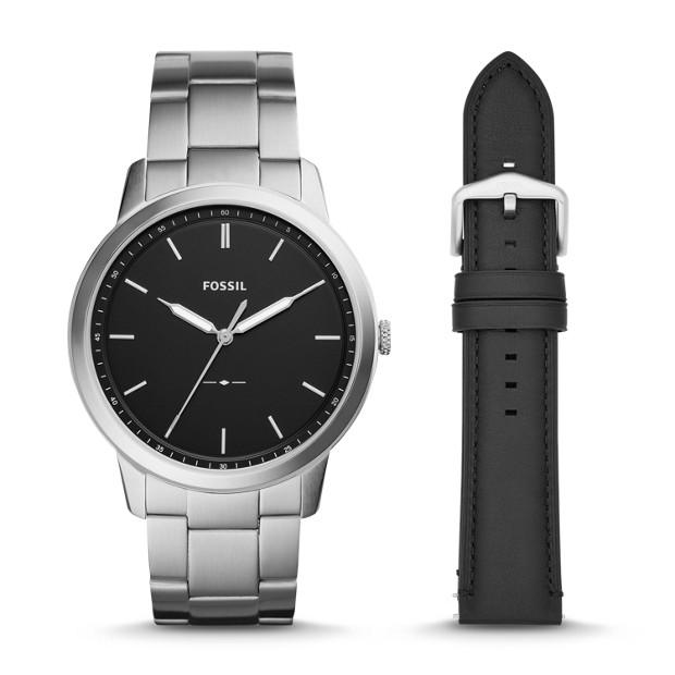 Set Herrenuhr The Minimalist + Wechselband by Fossil