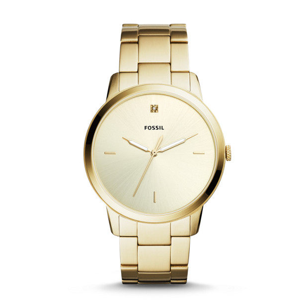 86f2270e3 The Minimalist Carbon Series Three-Hand Gold-Tone Stainless Steel Watch