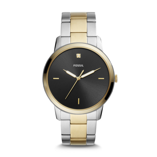c338b856b The Minimalist Carbon Series Three-Hand Two-Tone Stainless Steel Watch