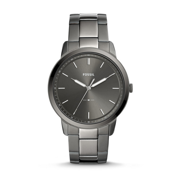 736955d42 The Minimalist Three-Hand Smoke Stainless Steel Watch - Fossil