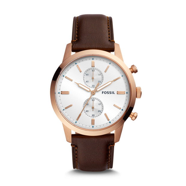 Townsman Chronograph Java Leather Watch by Fossil