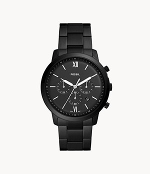 Neutra Chronograph Black Stainless Steel Watch