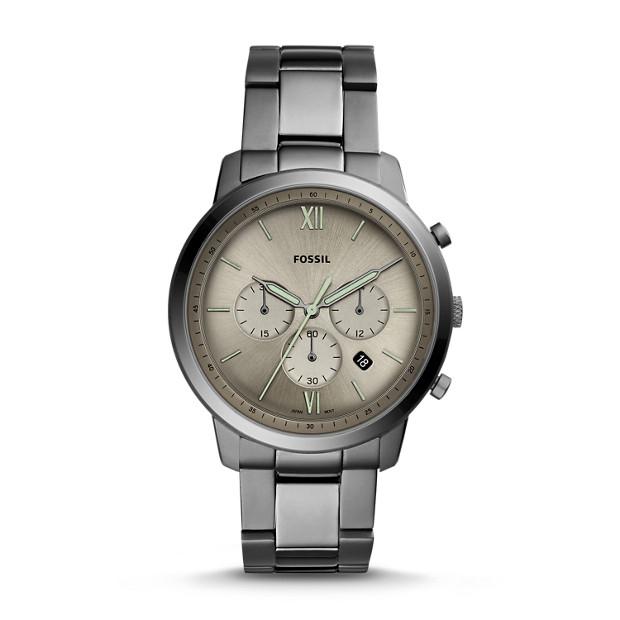 9bf4de8b6 Neutra Chronograph Smoke Stainless Steel Watch - Fossil