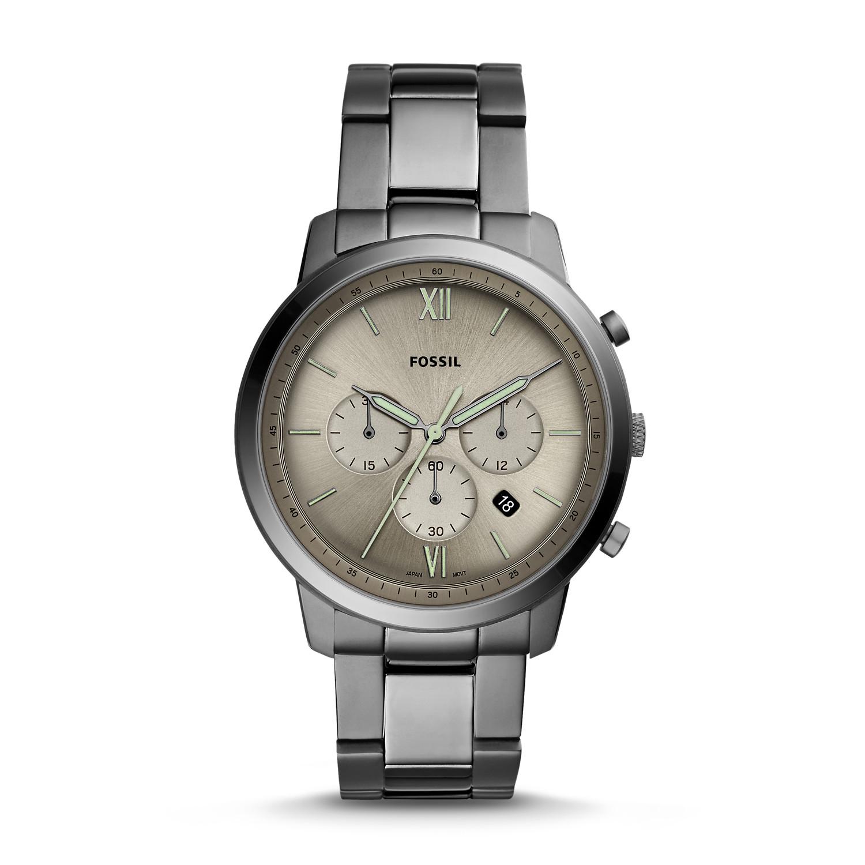 467b796e7b0 Neutra Chronograph Smoke Stainless Steel Watch - Fossil