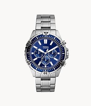 Garrett Chronograph Silver-Tone Stainless Steel Watch