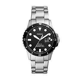 FB-01 Three-Hand Date Stainless Steel Watch