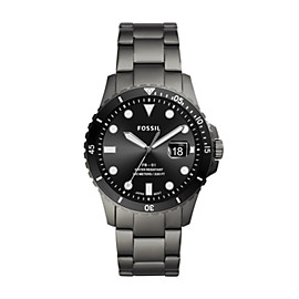 FB-01 Three-Hand Date Smoke Stainless Steel Watch