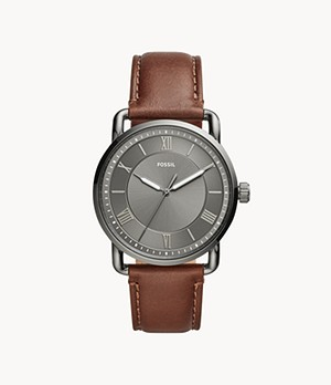 Copeland 42mm Three-Hand Brown Leather Watch