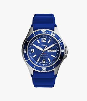FB-02 Three-Hand Date Navy Silicone Watch