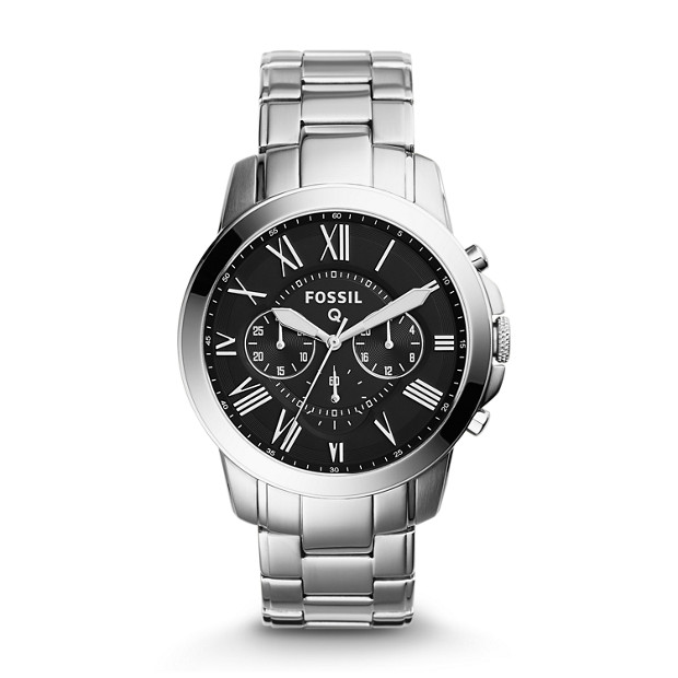 herren smartwatch q grant chronograph edelstahl fossil. Black Bedroom Furniture Sets. Home Design Ideas