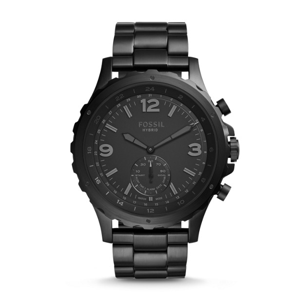 08a71ad952e1 Hybrid Smartwatch - Q Nate Black Stainless Steel - Fossil