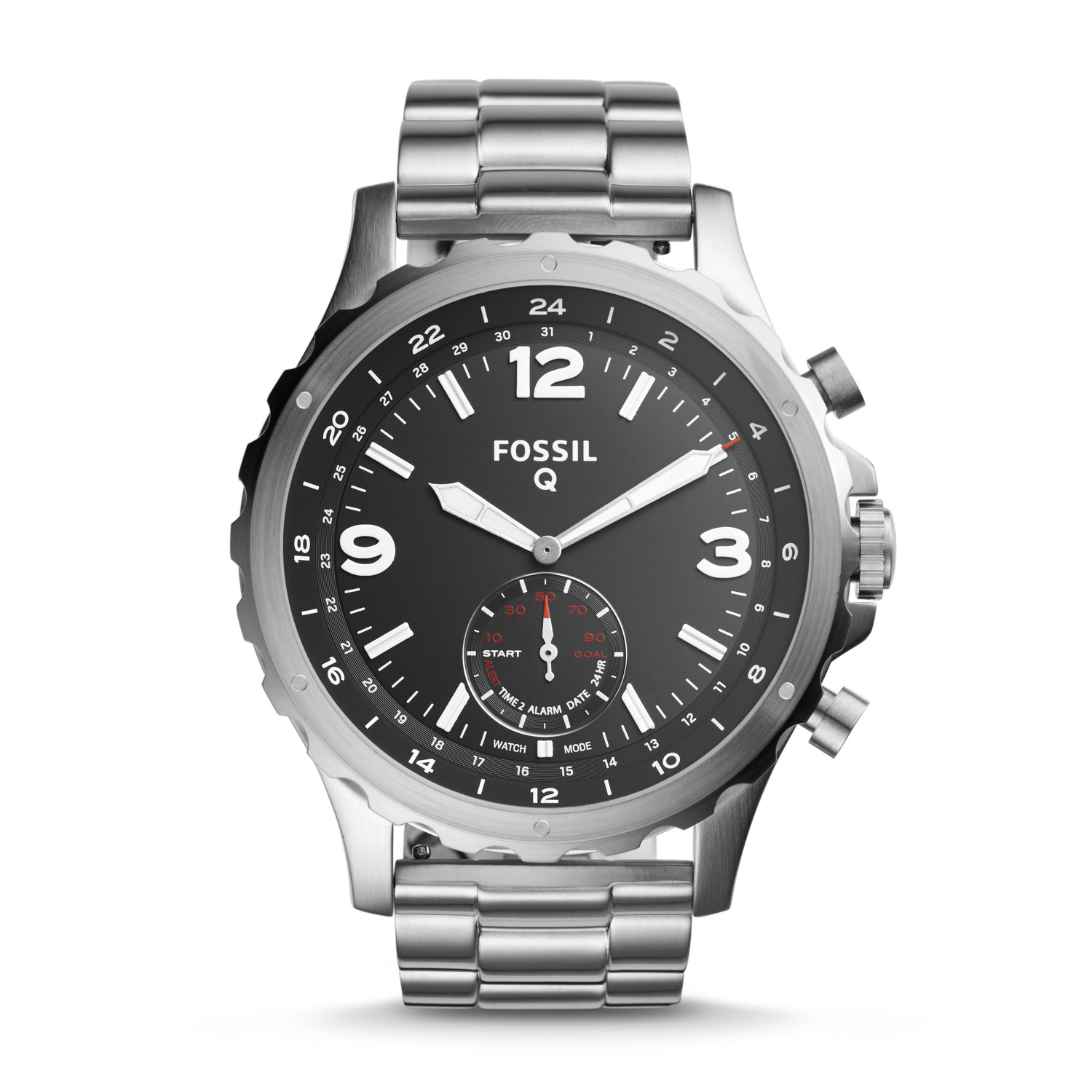 48ecf85fd27 Hybrid Smartwatch - Nate Stainless Steel - Fossil