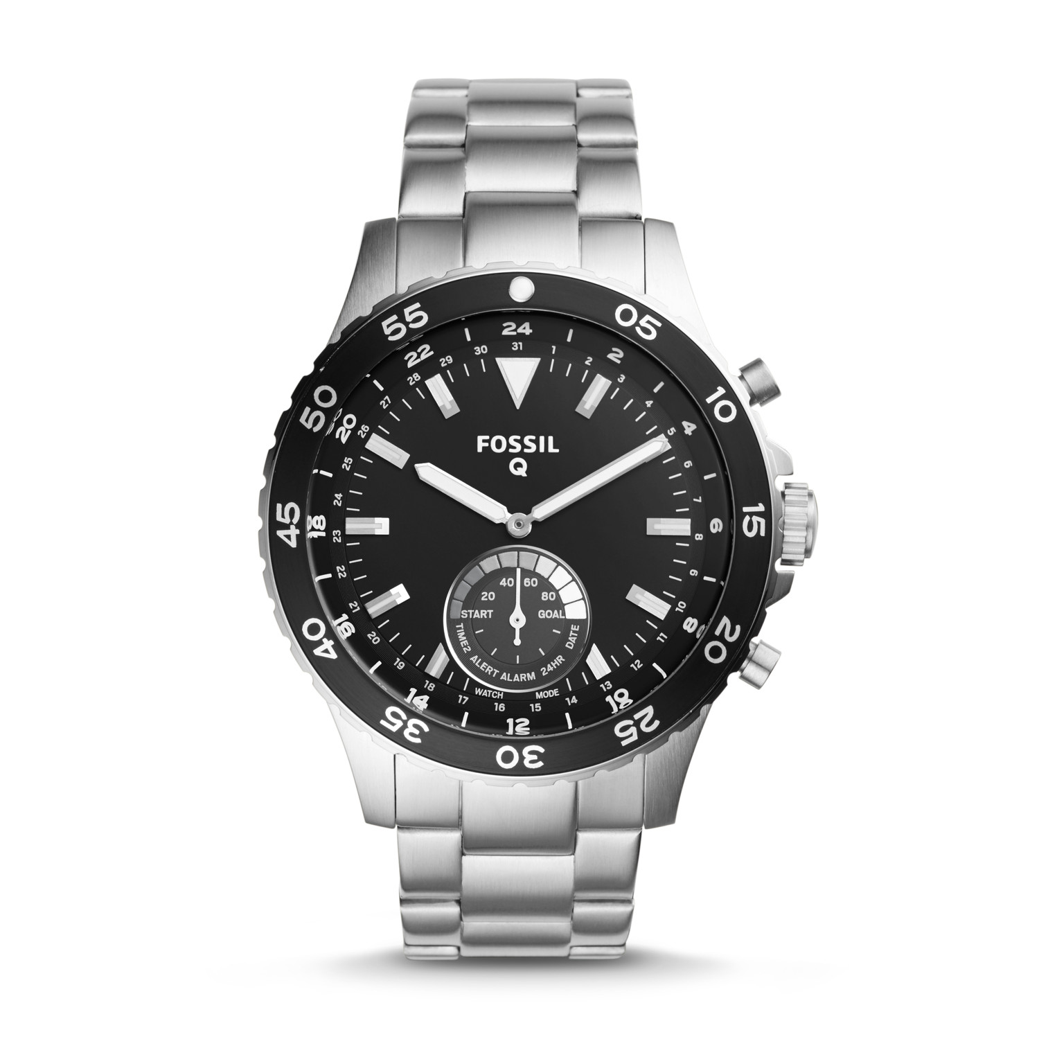 hybrid smartwatch q crewmaster stainless steel fossil