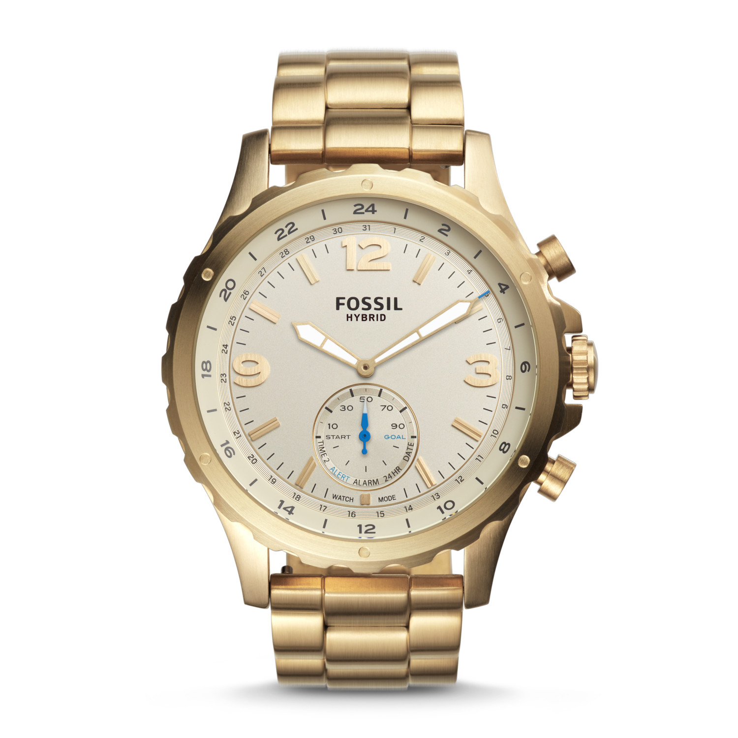 88df8aaae0197 Hybrid Smartwatch - Nate Gold-Tone Stainless Steel - Fossil