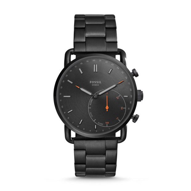 His And Hers Watch Sets >> Hybrid Smartwatch - Q Commuter Black Stainless Steel - Fossil