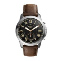 Deals on Fossil Hybrid Smartwatch Q Grant Leather FTW1156P
