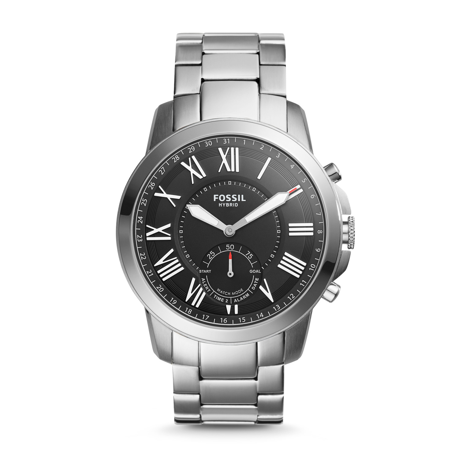 Hybrid Smartwatch Grant Stainless Steel Fossil