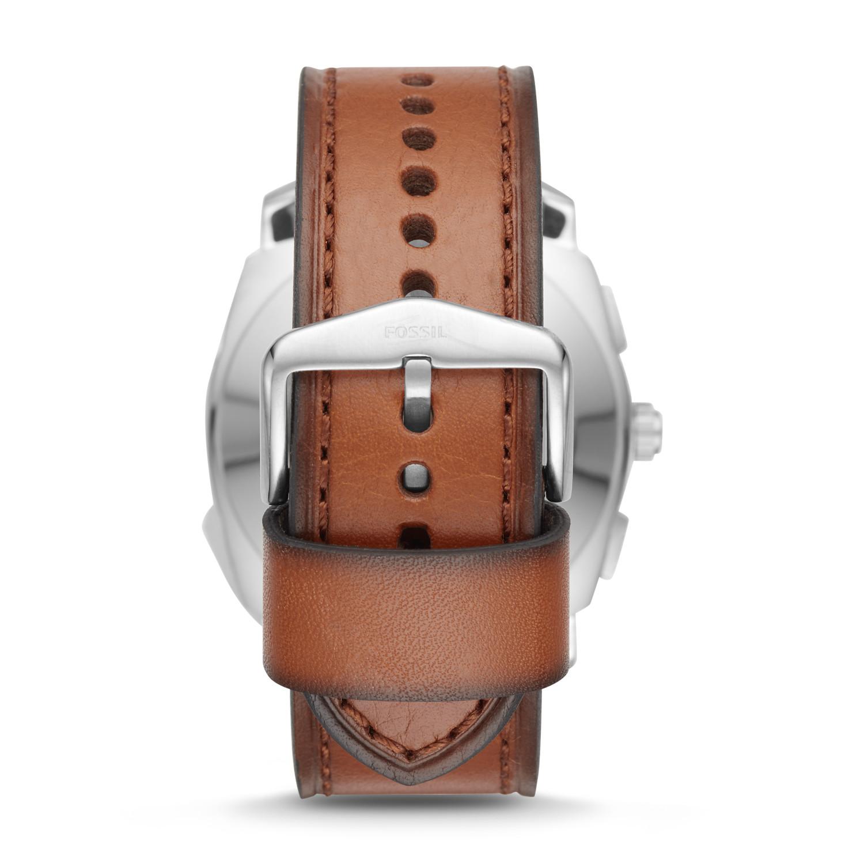 Hybrid Smartwatch - Q Machine Brown Leather
