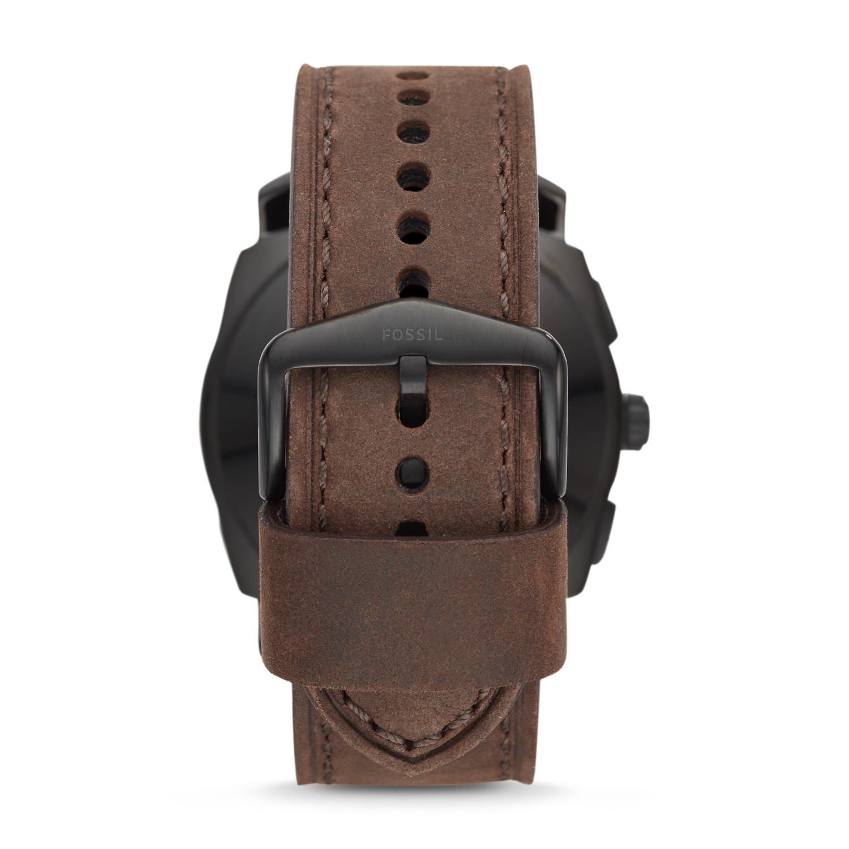 Hybrid Smartwatch - Q Machine Dark Brown Leather