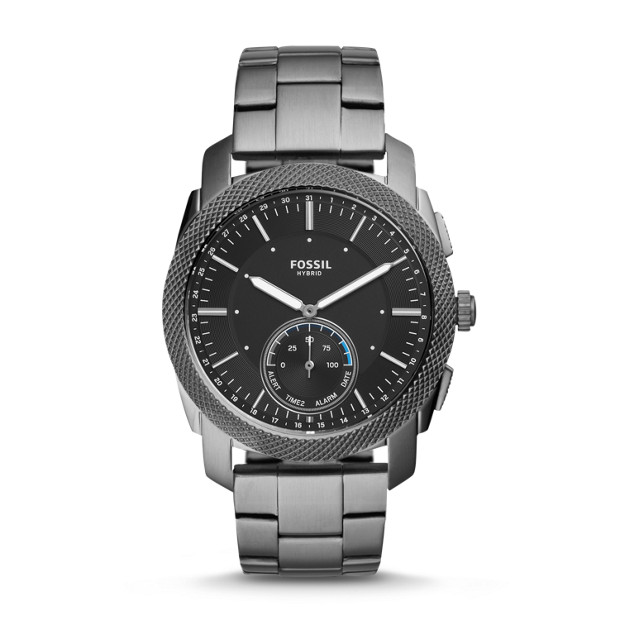Hybrid Smartwatch – Q Machine Smoke Stainless Steel by Fossil