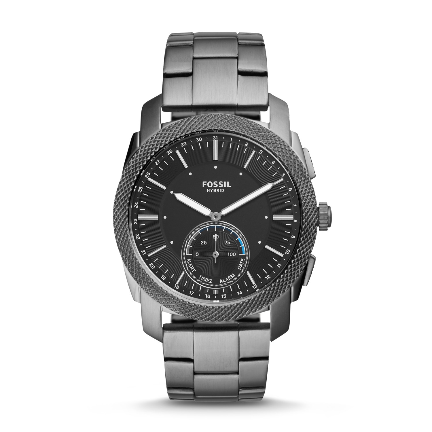 Hybrid Smartwatch - Machine Smoke Stainless Steel - Fossil d5b5a4135b