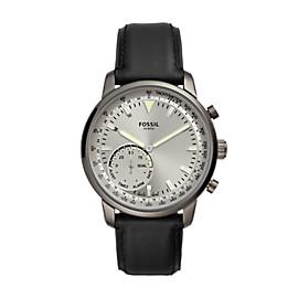 Herren Hybrid Smartwatch Q Goodwin - Leder - Schwarz