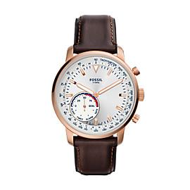 Herren Hybrid Smartwatch Q Goodwin - Leder - Braun