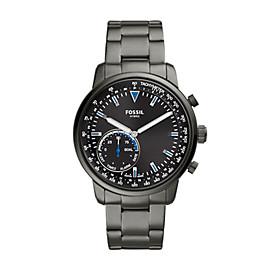 Herren Hybrid Smartwatch Q Goodwin - Edelstahl - Grau