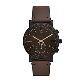 Hybrid Smartwatch - Barstow Dark Brown Leather