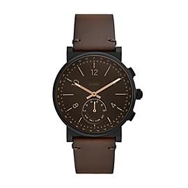 Smartwatch ibrido - Barstow con cinturino in pelle marrone scuro