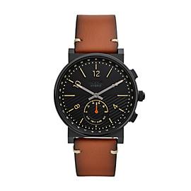 Smartwatch ibrido - Barstow con cinturino in pelle marrone chiaro