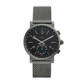 Hybrid Smartwatch - Barstow Smoke Stainless Steel