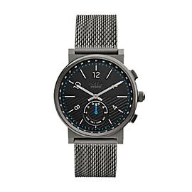 Smartwatch ibrido - Barstow con bracciale in acciaio grigio fumo