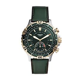 Hybrid Smartwatch Garrett Dark Green Leather