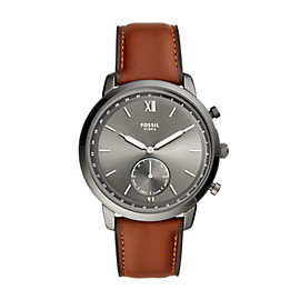 Hybrid Smartwatch Neutra Amber Leather