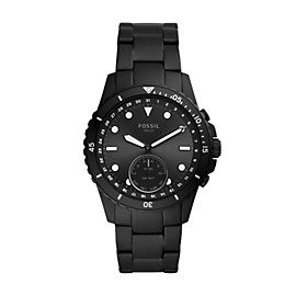 Hybrid Smartwatch FB-01 Black Stainless Steel