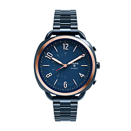 Hybrid Smartwatch - Q Accomplice Navy Blue Stainless Steel