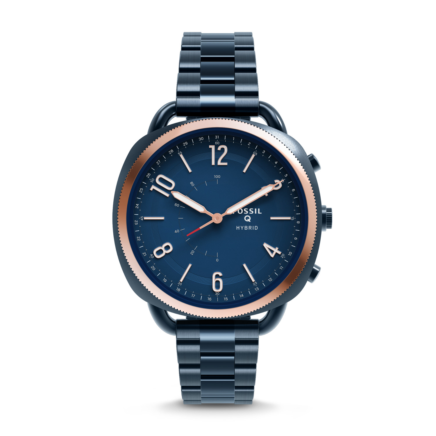 Hybrid Smartwatch Accomplice Navy Blue Stainless Steel