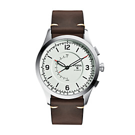 Hybrid Smartwatch - Q Activist Brown Leather