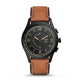 Hybrid Smartwatch – Q Activist Luggage Leather