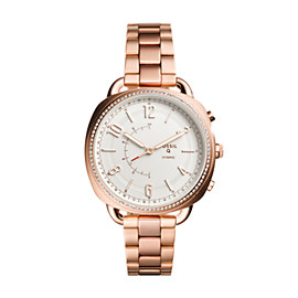Montre intelligente hybride – Fossil Q Accomplice en acier inoxydable doré rose