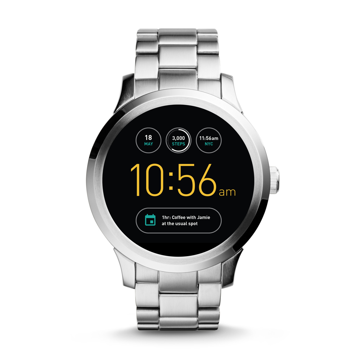 30970270853 Gen 1 Smartwatch - Q Founder Stainless Steel - Fossil