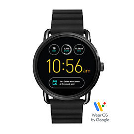 Q Wander Touchscreen Black Silicone Smartwatch