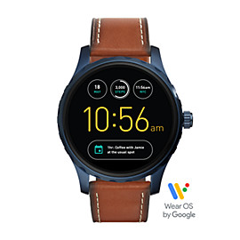 Q Marshal Touchscreen Brown Leather Smartwatch