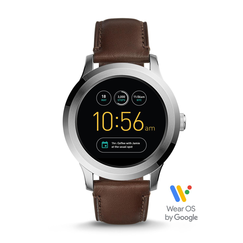 dd0bceeff3 Gen 2 Smartwatch - Founder Dark Brown Leather - Fossil