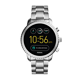 Montre intelligente Gen 3 – Fossil Q Explorist en acier inoxydable